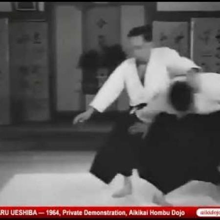 Kisshomaru Ueshiba - Private Demonstration at Aikikai Hombu Dojo, 1964